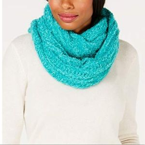 New INC Concept Textured Infinity Scarf Turquoise
